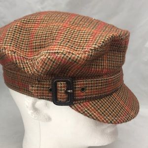 J Crew Wool Cotton Hat Cap Cabbie cadet
